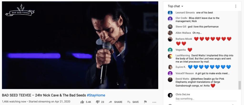 Nick Cave Bad Seeds Teevee