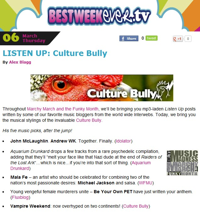 Best Week Ever Culture Bully