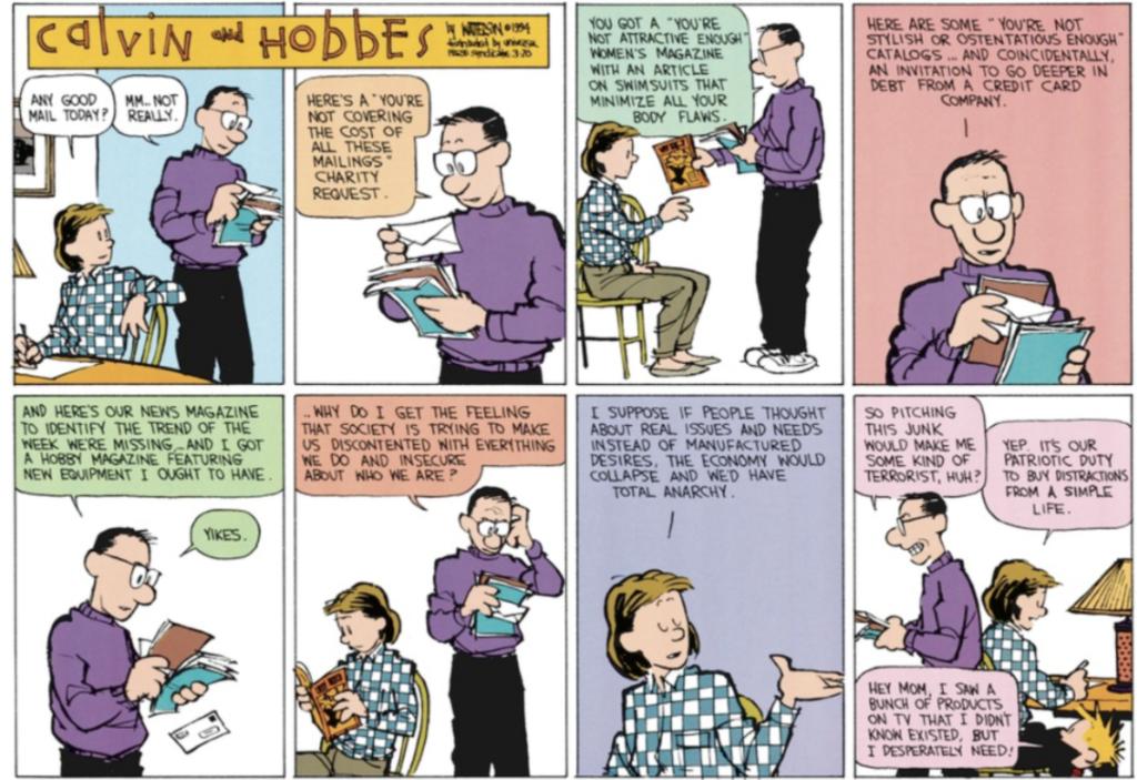 Calvin Hobbes Simple Life